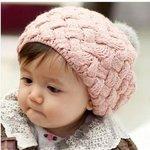 Baby/kinderen gebreide beanie/baret