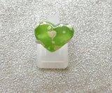 Kinderring met groen hartje