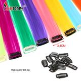 Gekleurde highlight haar extensions clip