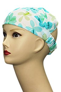 Bandana/haarband groen/blauw