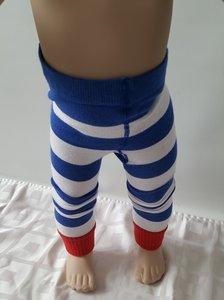 Le Big Peuter/kinderlegging-maillot gestreept met buttons