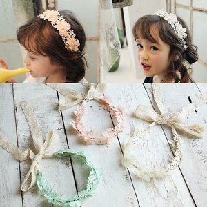 Diadeem/haarband bloemen met lint