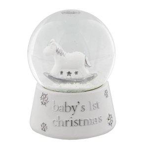 Bambino sneeuwbol baby's eerste kerst